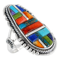 Multi Gemstone Ring Sterling Silver R2318-C51