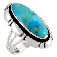 Turquoise Ring Sterling Silver R2380-C75