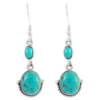 Sterling Silver Earrings Turquoise E1218-C75