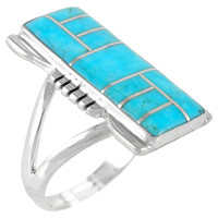 Turquoise Ring Sterling Silver R2017-C05
