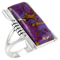 Purple Turquoise Ring Sterling Silver R2017-C77