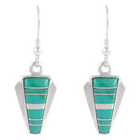 Sterling Silver Earrings Turquoise E1227-C05