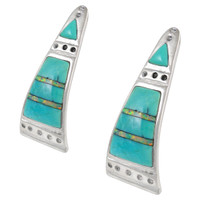 Sterling Silver Earrings Turquoise E1222-C21