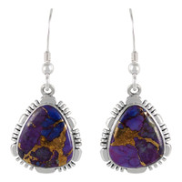 Sterling Silver Earrings Purple Turquoise E1157-SM-C77