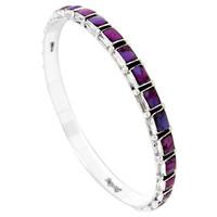 Purple Turquoise Bangle Bracelet Sterling Silver B5529A-C77