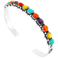 Multi Gemstone Bracelet Sterling Silver B5426-C71