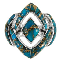 Matrix Turquoise Ring Sterling Silver R2040-C84