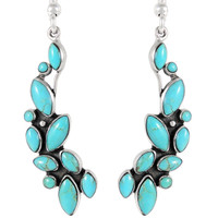 Sterling Silver Earrings Turquoise E1251-C75