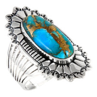 Matrix Turquoise Ring Sterling Silver R2427-C84
