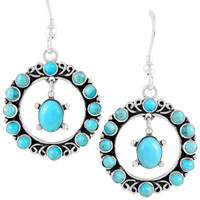 Sterling Silver Earrings Turquoise E1267-C75