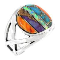 Multi Gemstone Ring Sterling Silver R2431-C00