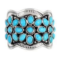 Turquoise Ring Sterling Silver R2433-C75