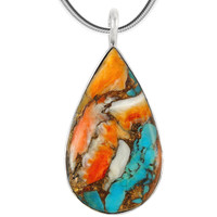 Sterling Silver Pendant Spiny Turquoise P3269-C89