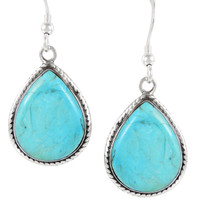 Sterling Silver Earrings Turquoise E1269-C75