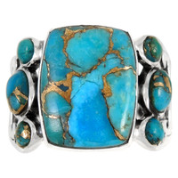 Matrix Turquoise Ring Sterling Silver R2435-C84