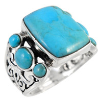 Turquoise Ring Sterling Silver R2435-C75