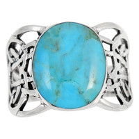 Turquoise Ring Sterling Silver R2437-C75