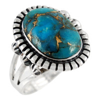Matrix Turquoise Ring Sterling Silver R2438-C84