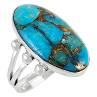 Matrix Turquoise Ring Sterling Silver R2242-LG-C84