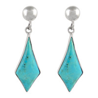 Sterling Silver Earrings Turquoise E1277-C75