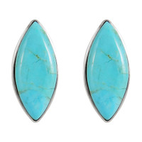Sterling Silver Earrings Turquoise E1275-C75