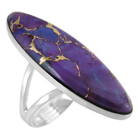 Purple Turquoise Ring Sterling Silver R2440-C77