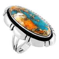 Spiny Turquoise Ring Sterling Silver R2380-C89