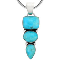 Sterling Silver Pendant Turquoise P3271-C75