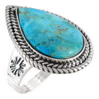 Turquoise Ring Sterling Silver R2443-C75