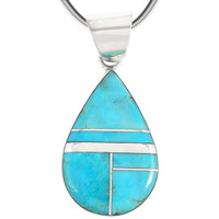 Sterling Silver Pendant Turquoise P3270-C05