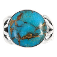 Matrix Turquoise Ring Sterling Silver R2444-C84