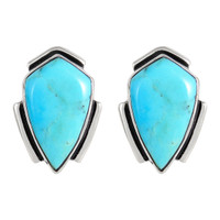 Sterling Silver Earrings Turquoise E1290-C75