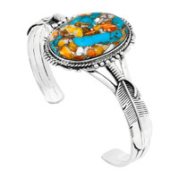 Spiny Turquoise Bracelet Sterling Silver B5550-C89