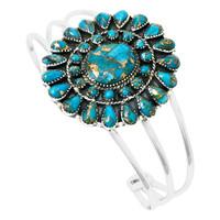Matrix Turquoise Bracelet Sterling Silver B5445-C84