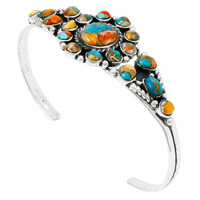 Spiny Turquoise Bracelet Sterling Silver B5484-C89