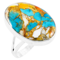 Spiny Turquoise Ring Sterling Silver R2260-C89