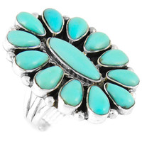 Turquoise Ring Sterling Silver R2041-C75