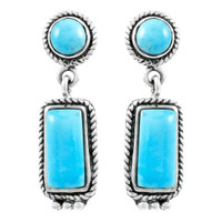 Turquoise Earrings Sterling Silver E1118-C75