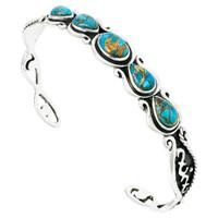 Matrix Turquoise Bracelet Sterling Silver B5567-C84
