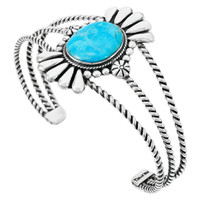 Turquoise Bracelet Sterling Silver B5570-C75