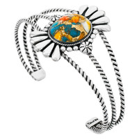 Spiny Turquoise Bracelet Sterling Silver B5570-C89