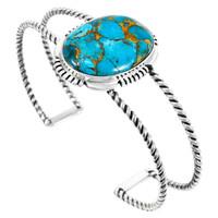 Matrix Turquoise Bracelet Sterling Silver B5571-C84