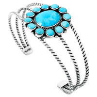 Turquoise Bracelet Sterling Silver B5572-C75