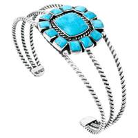 Turquoise Bracelet Sterling Silver B5573-C75