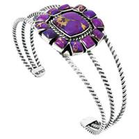 Purple Turquoise Bracelet Sterling Silver B5573-C77