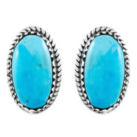 Turquoise Earrings Jewelry Sterling Silver E1297-C75