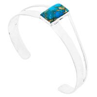 Matrix Turquoise Bracelet Sterling Silver B5496-C84