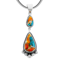 Sterling Silver Pendant Spiny Turquoise P3061-C89