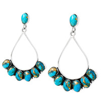 Turquoise Earrings Sterling Silver E1246-C84