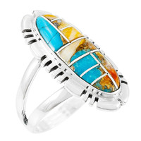 Spiny Turquoise Ring Sterling Silver R2096-SM-C89